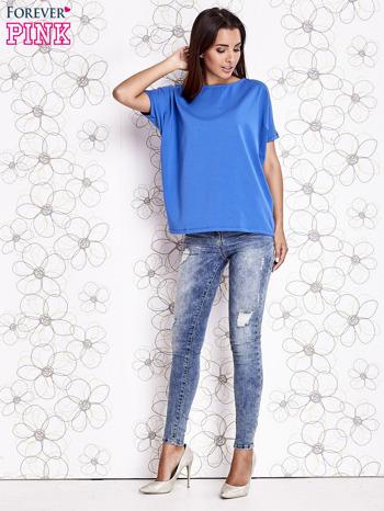 Niebieski t-shirt oversize                                  zdj.                                  3