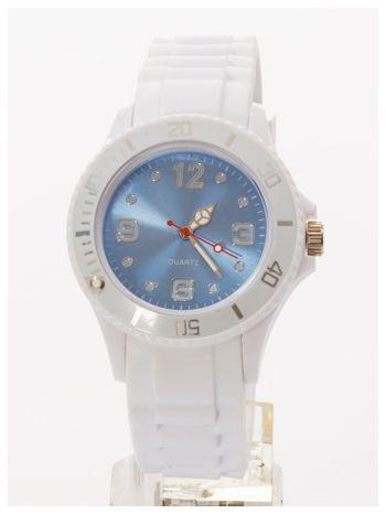 Niebieski zegarek damski na silikonowym pasku                                  zdj.                                  3