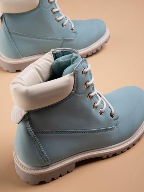Niebieskie buty trekkingowe damskie traperki Shimmy                              zdj.                              2