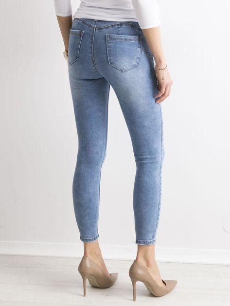 Niebieskie damskie spodnie jeansowe                               zdj.                              2
