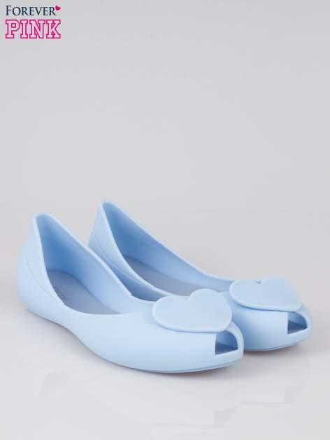 Niebieskie gumowe baleriny meliski z sercem                                  zdj.                                  2