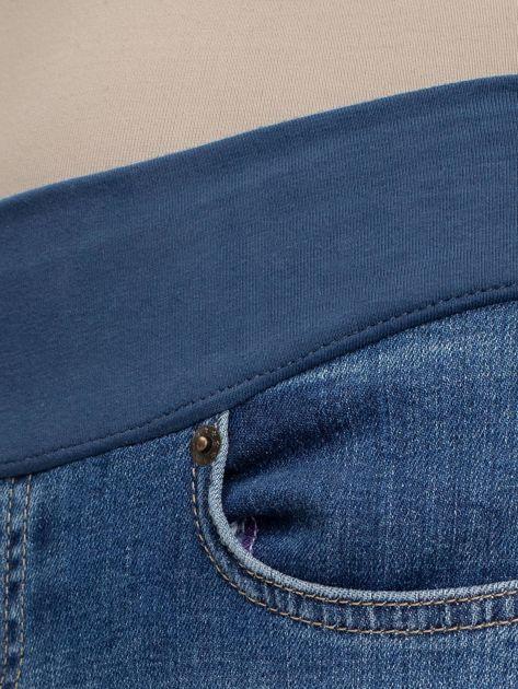 Niebieskie jeansy ciążowe Cuteness                              zdj.                              3