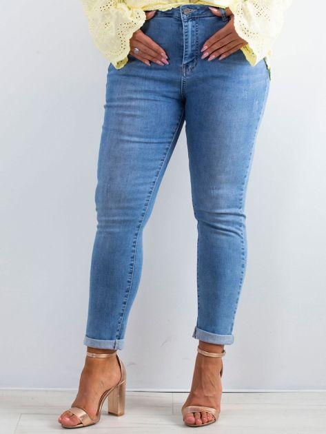 Niebieskie jeansy Noisy PLUS SIZE                              zdj.                              1