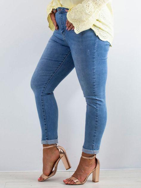 Niebieskie jeansy Noisy PLUS SIZE                              zdj.                              3