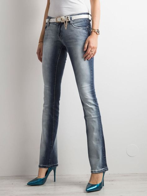 Niebieskie jeansy bootcut                              zdj.                              1