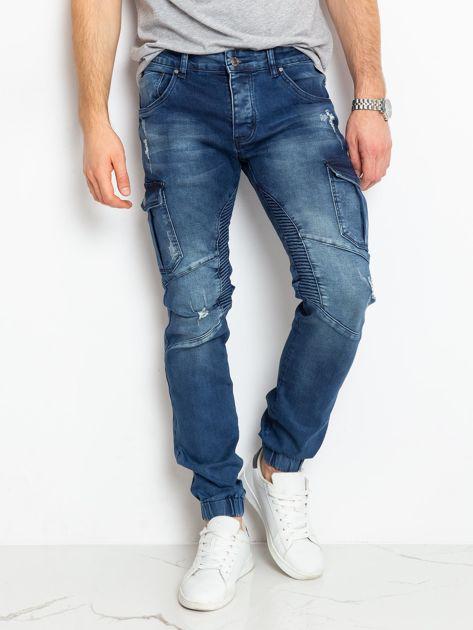 Niebieskie jeansy męskie Felix