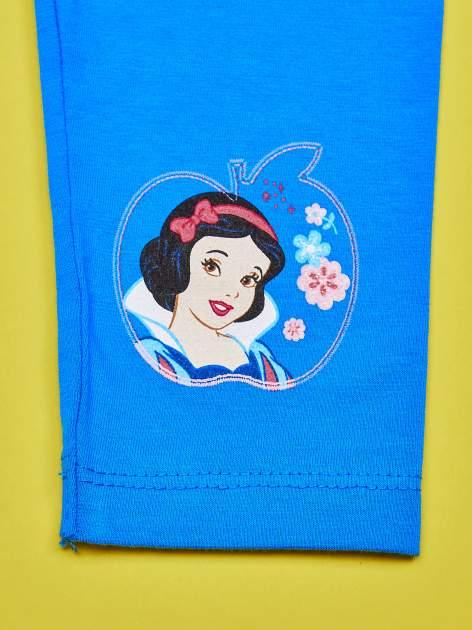 Niebieskie legginsy dla dziewczynki KRÓLEWNA ŚNIEŻKA                                  zdj.                                  5