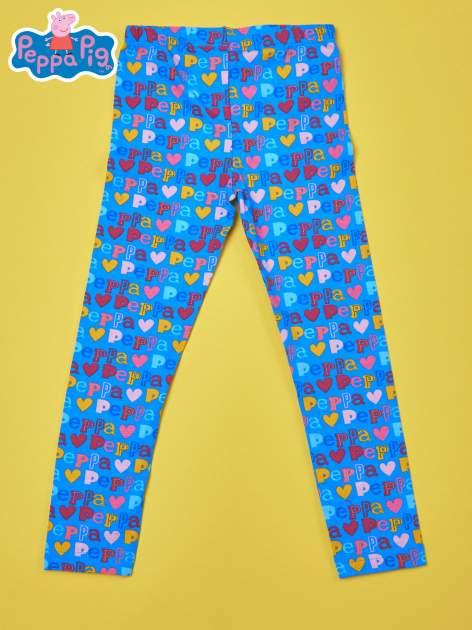 Niebieskie legginsy dla dziewczynki ŚWINKA PEPPA                                  zdj.                                  1