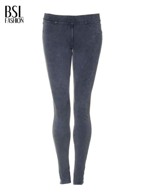 Niebieskie legginsy typu jegginsy                                  zdj.                                  5