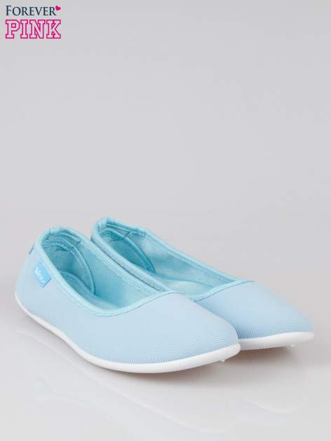 Niebieskie lekkie balerinki Cute Blush slip on                                  zdj.                                  2