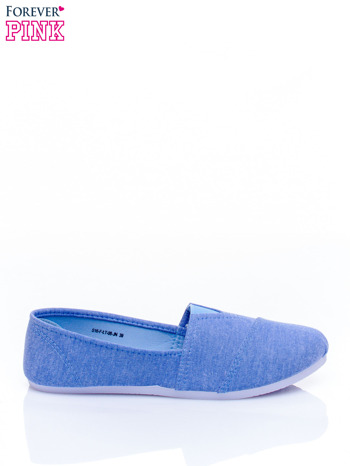 Niebieskie lekkie buty slip on                                  zdj.                                  2