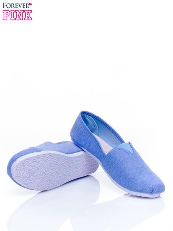Niebieskie lekkie buty slip on                                  zdj.                                  4