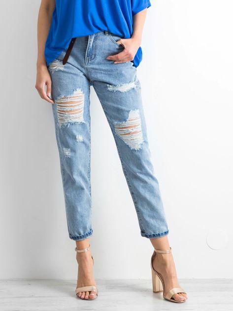 Niebieskie mom jeans Trashed                              zdj.                              1