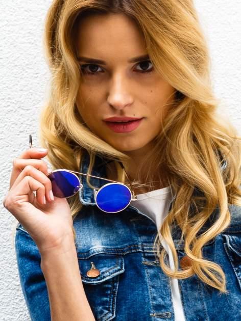 Niebieskie okulary przeciwsłoneczne LENONKI RETRO lustrzanka                                  zdj.                                  1