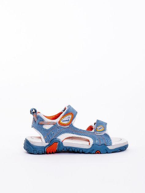 Niebieskie sandały dziecięce                              zdj.                              5