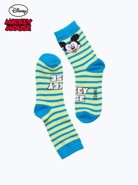 Niebieskie skarpetki chłopięce MICKEY MOUSE                                  zdj.                                  2