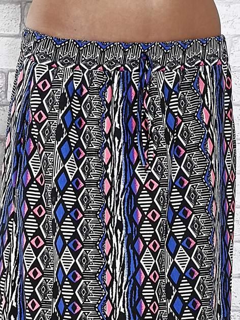 Niebieskie spódnica maxi w zteckie wzory                                  zdj.                                  5