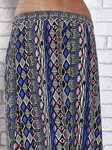 Niebieskie spódnica maxi w zteckie wzory                                  zdj.                                  7
