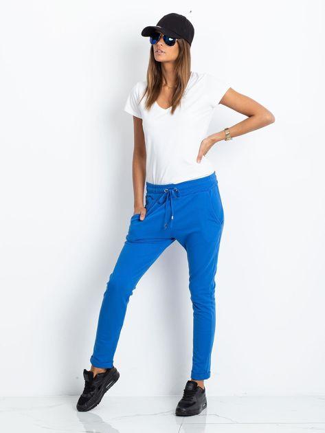 Niebieskie spodnie Cadence                              zdj.                              4