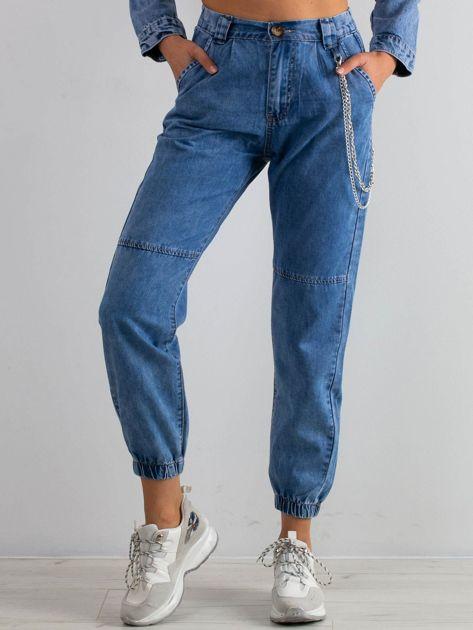 Niebieskie spodnie Platinum