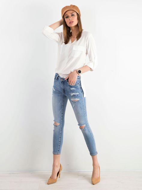 Niebieskie spodnie jeansowe damskie                              zdj.                              4