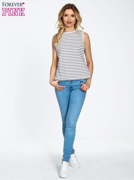 Niebieskie spodnie jeansowe super skinny                                  zdj.                                  2