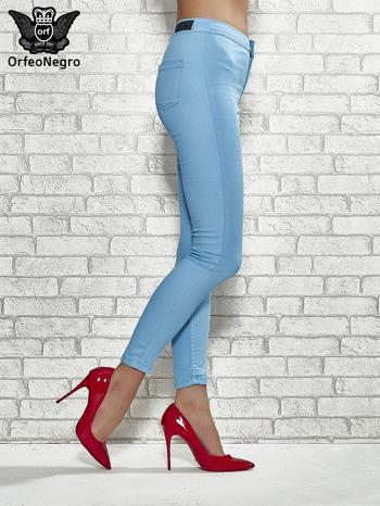 Niebieskie spodnie rurki skinny                                  zdj.                                  3