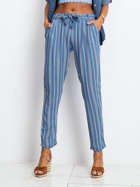 Niebieskie spodnie w paski                              zdj.                              1