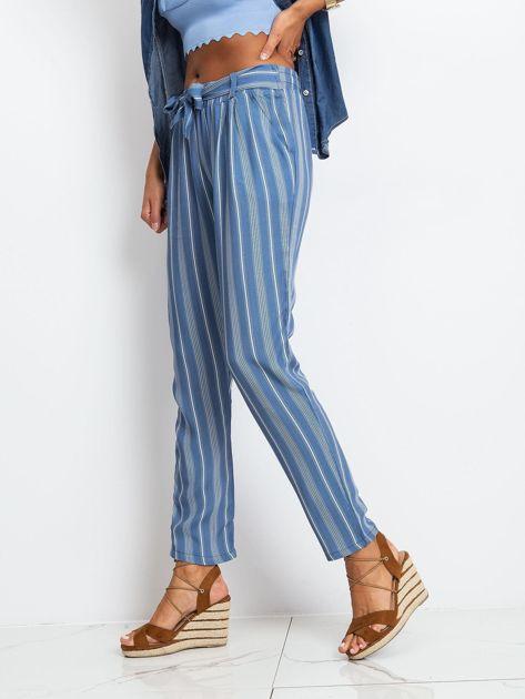 Niebieskie spodnie w paski                              zdj.                              3