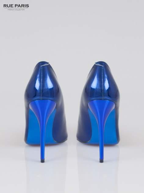 Niebieskie szpilki metaliczne                                  zdj.                                  3
