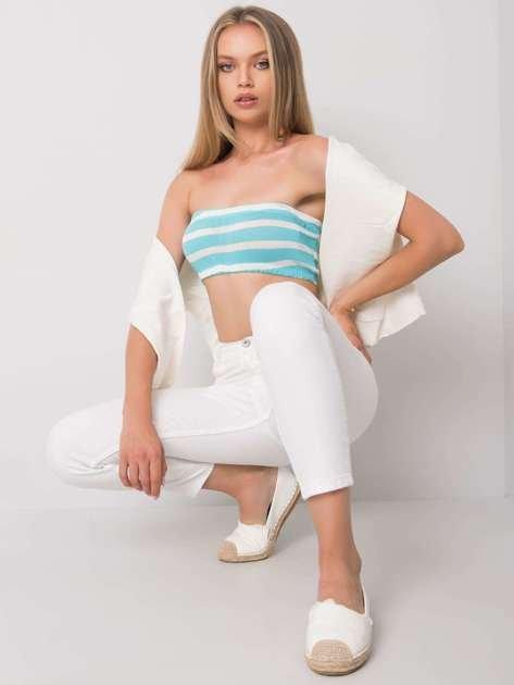 Niebiesko-biały top w paski Quinlan