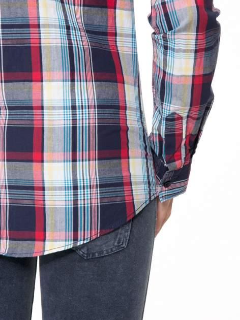 Niebiesko-czerwona koszula w kratę z kieszeniami                                  zdj.                                  10