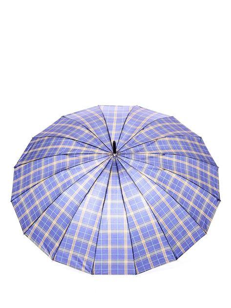 Niebiesko-żółty parasol w kratkę                              zdj.                              2