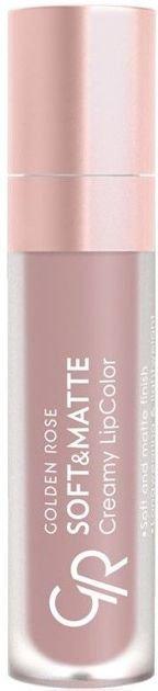Nowość!!! GOLDEN ROSE Soft & Matte Creamy Lip Color matowa pomadka 102 5,5 ml