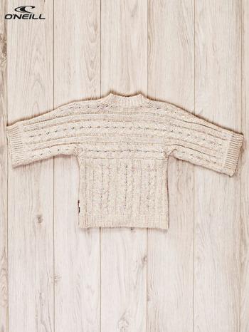 O'NEILL Beżowy sweter dla dziewczynki w warkoczowy wzór