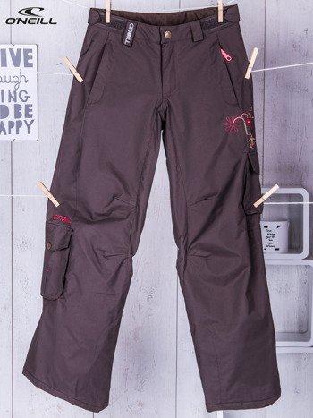 O'NEILL Brązowe spodnie narciarskie dla dziewczynki                              zdj.                              1