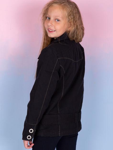 O'NEILL Czarna kurtka dla dziewczynki                               zdj.                              3