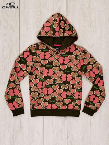 O'NEILL Różowa bluza dla dziewczynki w serduszka                              zdj.                              1