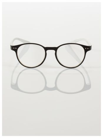 Okulary korekcyjne  +4.0 D dwukolorowe ,do czytania, stylizowane na RAY BAN +GRATIS PLASTIKOWE ETUI I ŚCIERECZKA Z MIKROFIBRY                                  zdj.                                  3