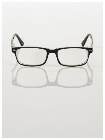 Okulary korekcyjne +4.0 D ,model WAYFARER do czytania z systemem FLEX na zausznikach +GRATIS PLASTIKOWE ETUI I ŚCIERECZKA Z MIKROFIBRY                                  zdj.                                  4