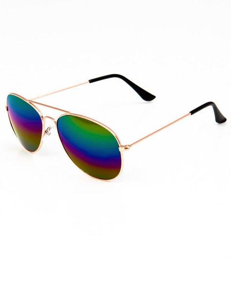 Okulary w stylu PILOTKI/AVIATOR unisex z szybą OMBRE                              zdj.                              2