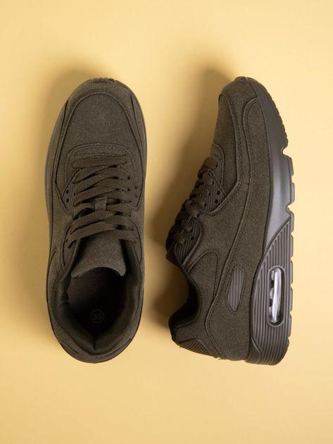 Oliwkowe damskie buty sportowe na sprężystych podeszwach                              zdj.                              1