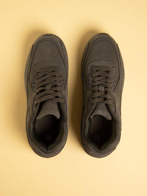 Oliwkowe damskie buty sportowe na sprężystych podeszwach                              zdj.                              2
