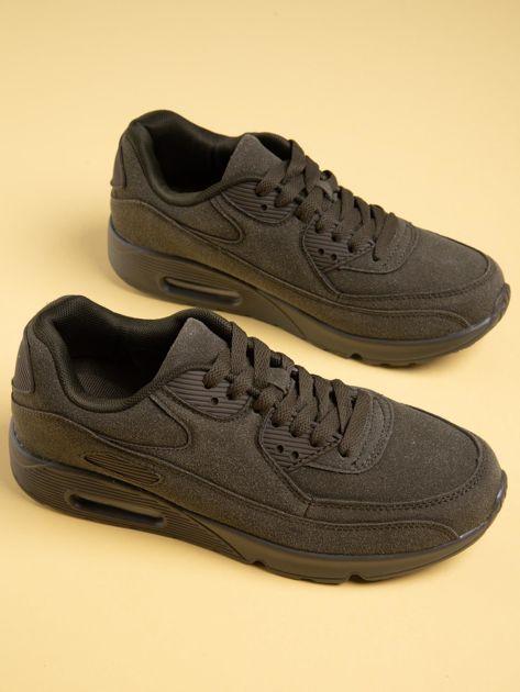 Oliwkowe damskie buty sportowe na sprężystych podeszwach                              zdj.                              5