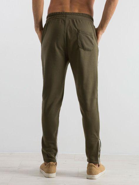 Oliwkowe spodnie dresowe męskie Durable                              zdj.                              2