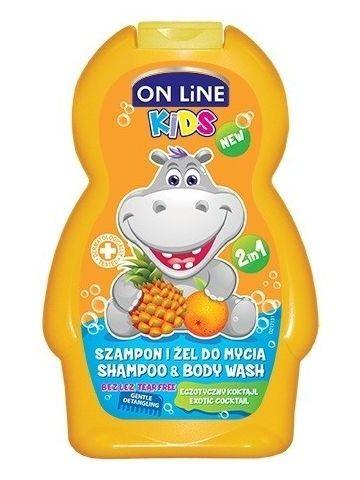 On Line Kids Szampon i żel do mycia ciała 2 w 1 Egzotyczny Koktajl  250 ml