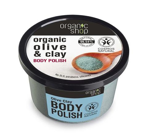 "Organic Shop Peeling do ciała Niebieska Glinka 250ml"""