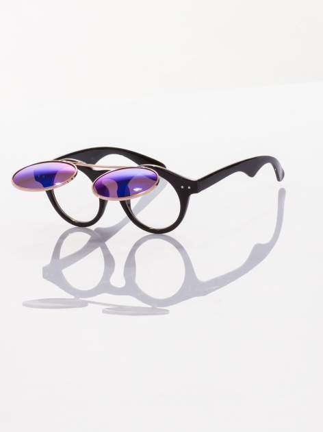 Otwierane okulary przeciwsłoneczne w stylu vintage retro lustrzanki                                  zdj.                                  2