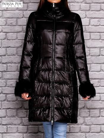 PATRIZIA PEPE Czarna pikowana kurtka                                  zdj.                                  1