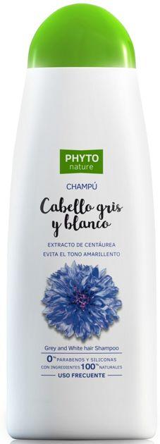 PHYTO NATURE Naturalny szampon do włosów jasnych i siwych z wyciągiem z bławatka 400 ml                              zdj.                              1